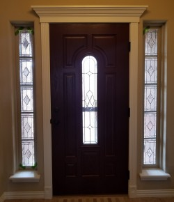Custom side panels to match existing door
