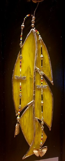 Yellow Stained Glass Agitsi Feather Boards