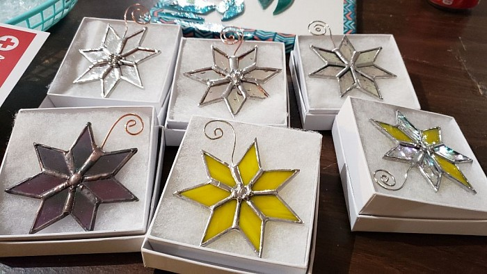 2019 Greater Cherokees' limited edition Stained Glass Cherokee Star Ornament by Agitsi